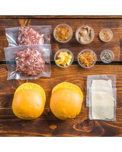 Wild Mushroom & Swiss Burger For Two